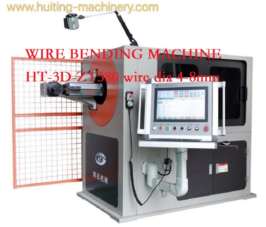 HT-3D-ZT580A Wire Bending Machine, wire forming products 4-8mm