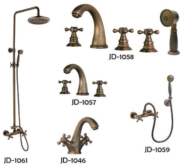 antique style h59 brass faucet set