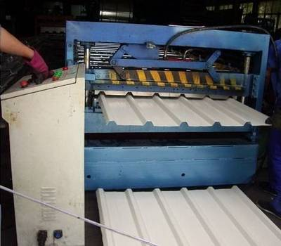 Long Span Aluminium Roofing Sheet Cold Roll Forming Machine For Sale