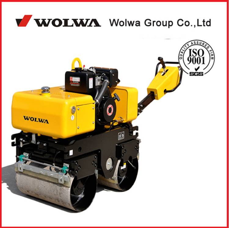 CE certificate GNYL33C walk type double wheel road roller