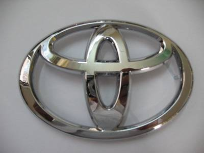 Toyota car emblem car logo chromed Auto emblems