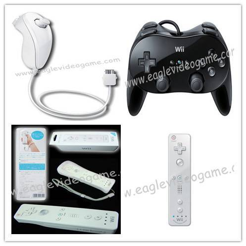 Wii/Wii U Remote Plus& Nunchuk Controller&Remote Controller&Classic Controller Pro - Black