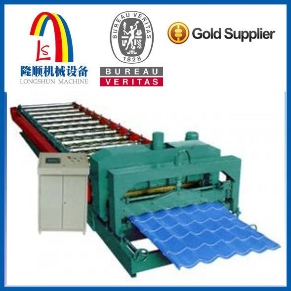 Flat sheet cold roll forming machine
