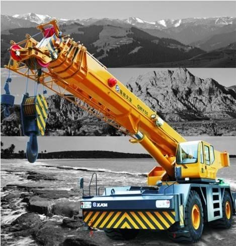 55ton rough terrain crane