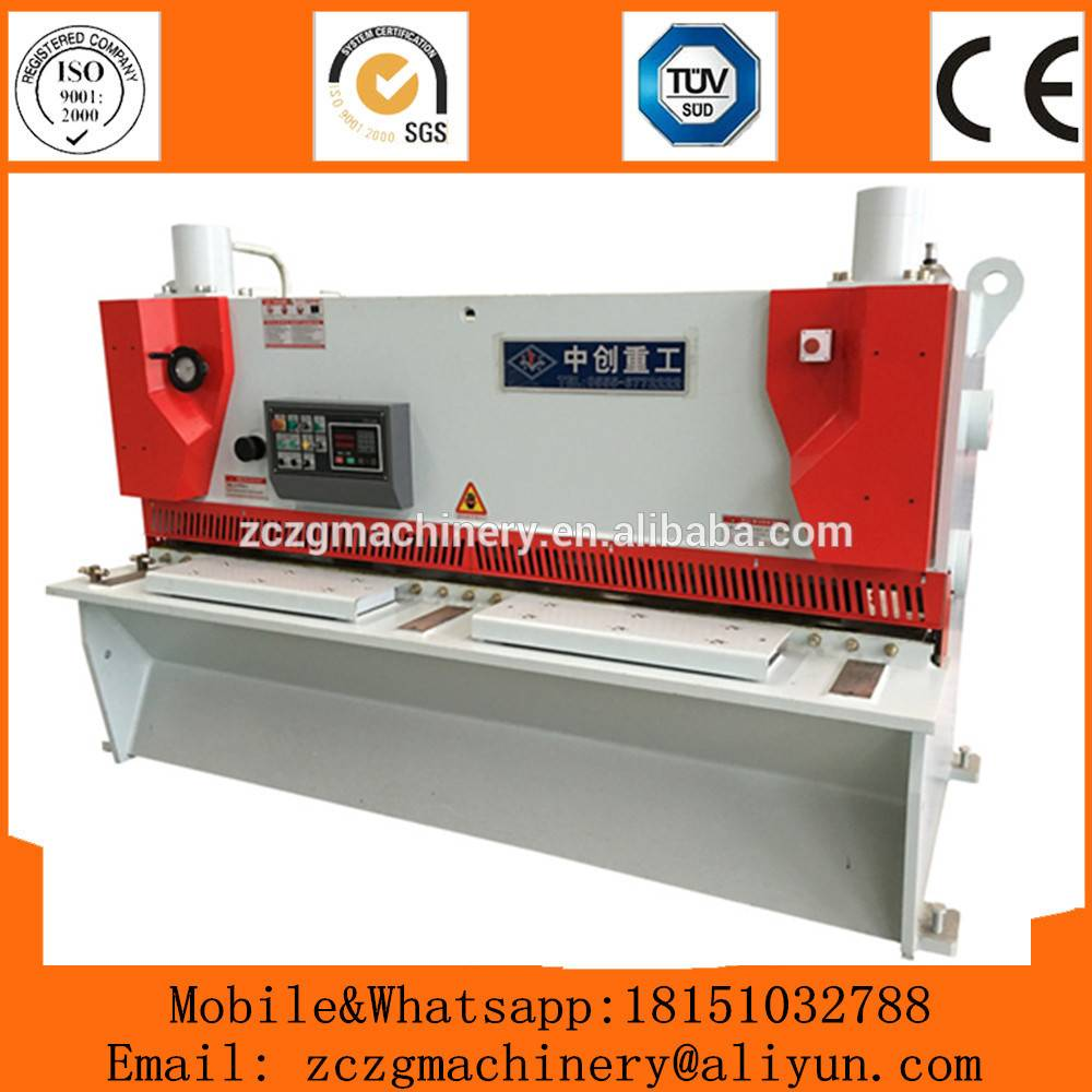 QC11k-102500 used steel cut machine with CNC controller,metal sheet guillotine cutter
