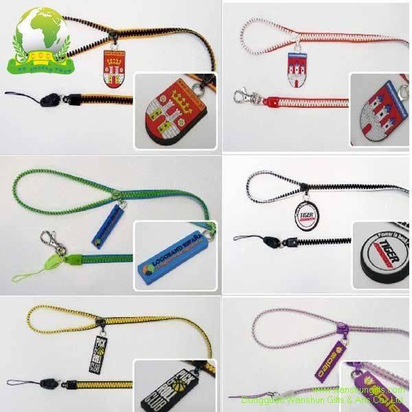 Custom Zipper Lanyards with PVC Badge