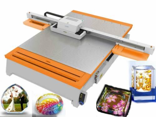 glass printing machine uv flatbed printer