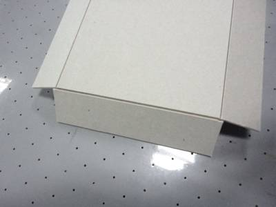 chipboard grey board cover rigid sandwich board V CUT cutter plotter cutting machine