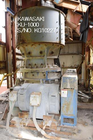 """KAWASAKI"" MODEL KU-1000 (1000MM X 350MM) ULTRA COARSE GYRATORY CRUSHER S/NO. KG10227"