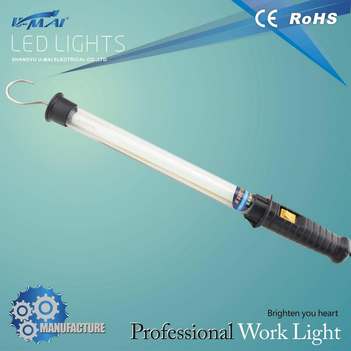 portable fluorescent work light