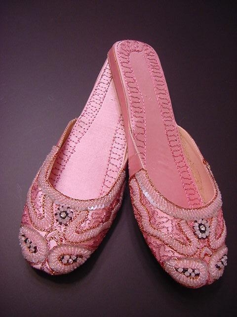 ladies beaded embroidered khussa shoes