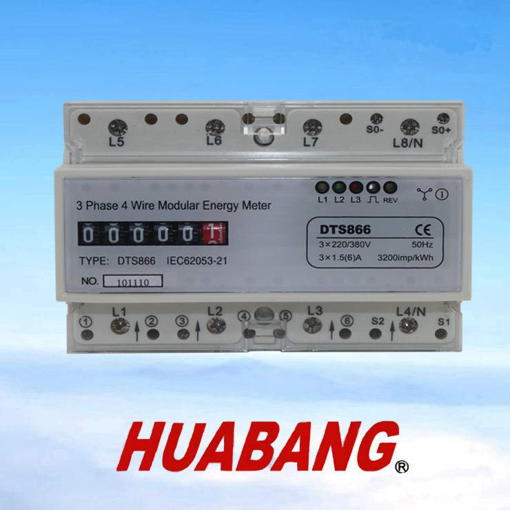 three phase DDM100T series din rail power meter