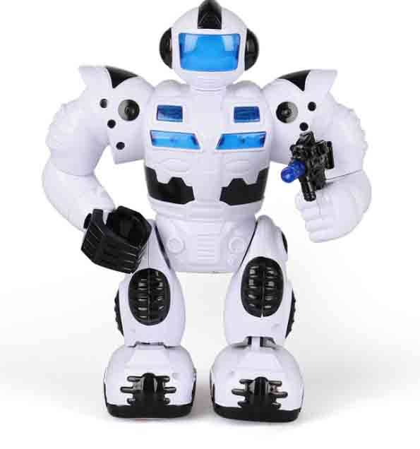 MIni Musician Cool spy-man battery Robot kids baby plastic toy