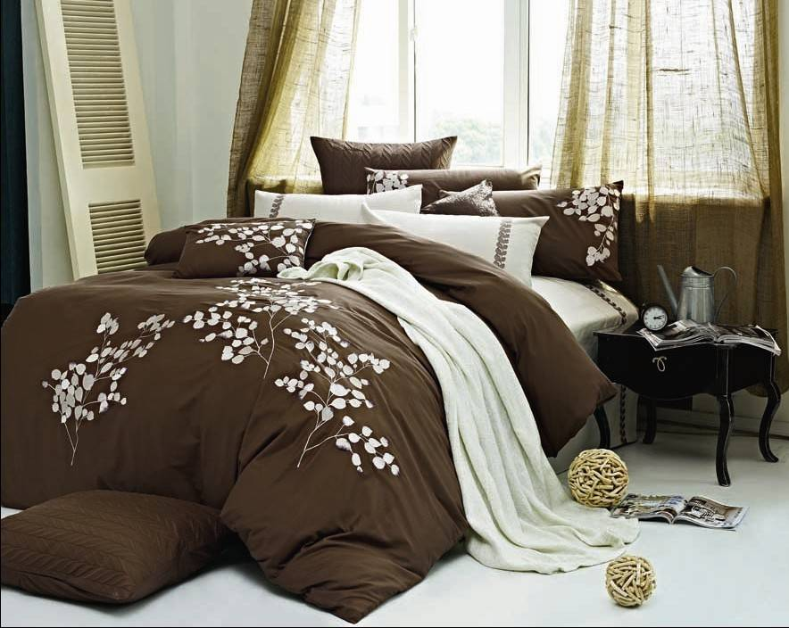 100% cotton embroidery bedding set