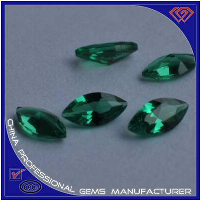 Marquise Shape Nano Cut Green Spinel