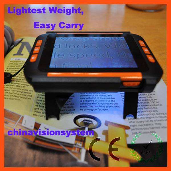 Lightest 3.5inch Low vision Pocket video magnifier