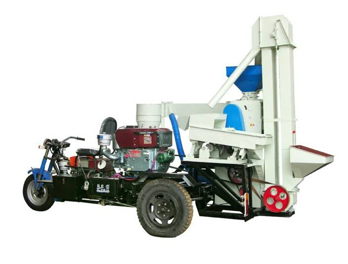High out put rice hulling,husker rice milling and polishing,rice processing moving/walking machine
