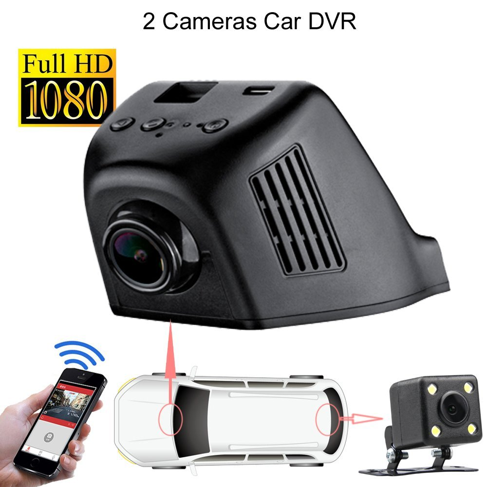 Wifi Hidden 1080P Video Car Recorder Rear View Mirror with Back Camera