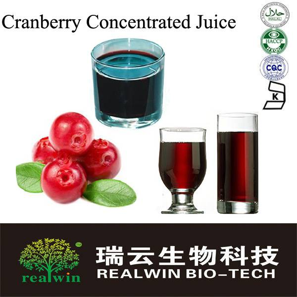 Cranberry Concentrate juice/vaccinium oxycoccus juice concentrate 65Brix