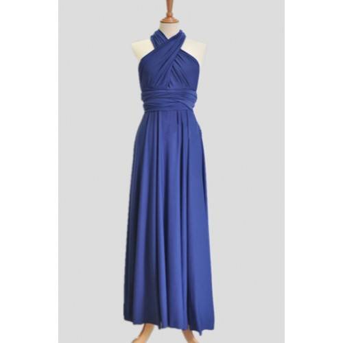 TENDER MOMENT ROYAL BLUE FLOOR LENGTH BRIDESMAID DRESS CB3006