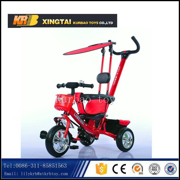 2016 new model 4 in 1 baby tricycle / Price children tricycle with sun-shade/umbrella push bar