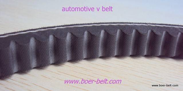 raw edge cogged v belt for car