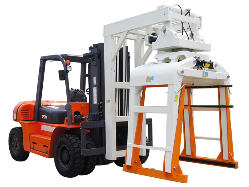 Material Handling Equipment Overhead Block Clamp Forklift Attachment