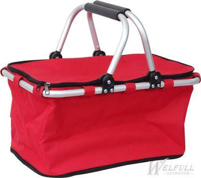 outdoor Collapsible Folding Picnic Basket with Cooler