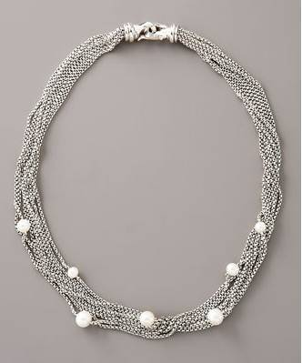 eight row pearl chain necklace