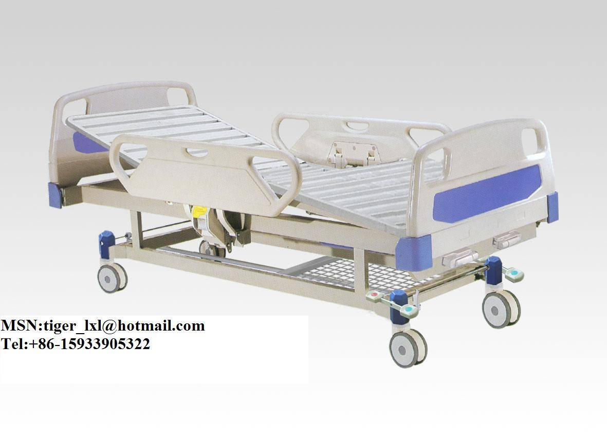 Movable double cranks hospital bed A-22