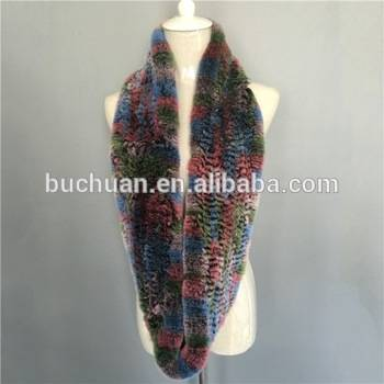 new style rabbit fur scarf in china with high quality