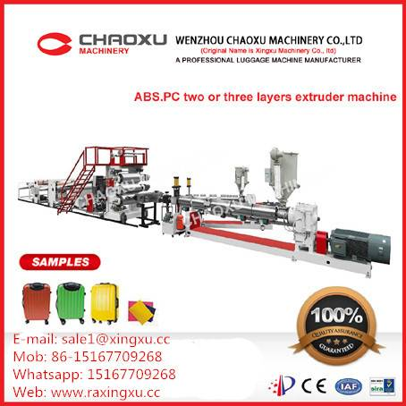 ABS/PC Two or Three Layers Plastic Extruder Machine (YX-21AP)