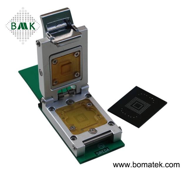 Nand flash testing |eMMC test socket |memory chip testing,Apply to eMMC size 14x18_0.5mm