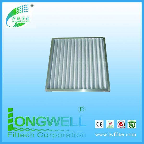 Alu.Metal frame pleated panel filters HVAC filters