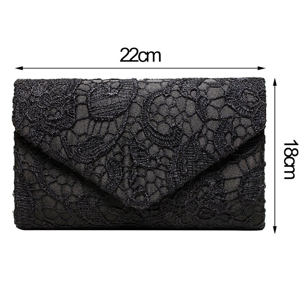 Women polyester Messenger Bags Luxury Handbags Designer leather evening lace clutch bags