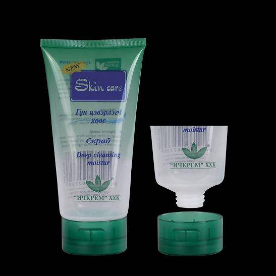 Cosmetic tubes for shampoo, bath salt and body lotion