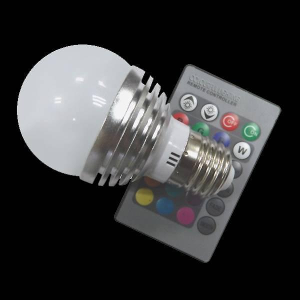 Aluminum body E27 RGB LED bulb light with Remote Control LED Bulb Light