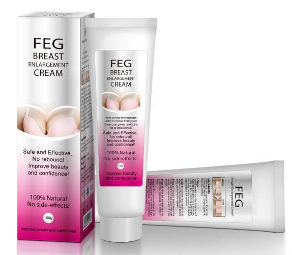 Beautiful in White with functional FEG Breast Enlargement Cream for big breast