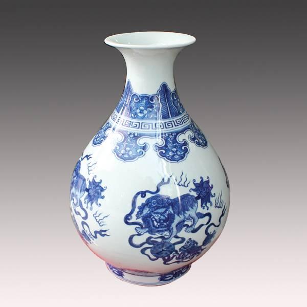 Popular selling porcelain vase, ceramic vase from Jingdezhen