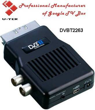 Mini Scart Mpeg2 DVB-T Receiver, TV Tuner, DVBT2263