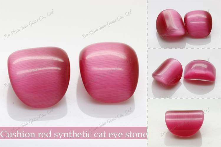 synthetic cat eye gem stone for jewelry making