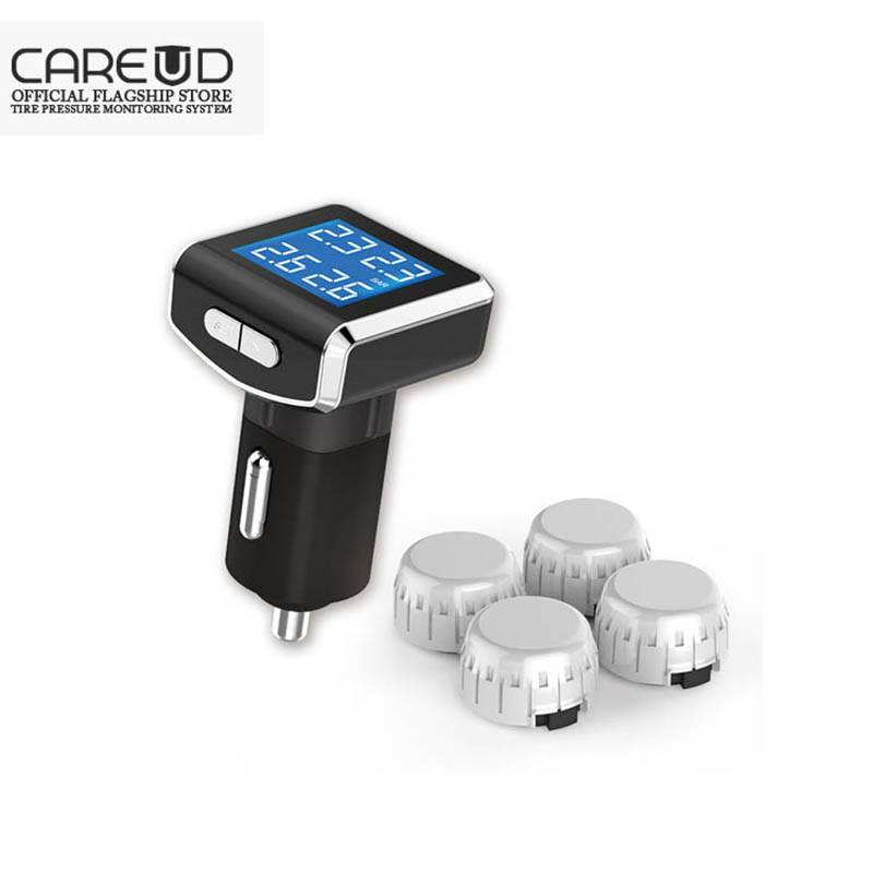 Wireless Tire pressure Monitoring system /car tpms connect to Cigarette light 4 external sensor