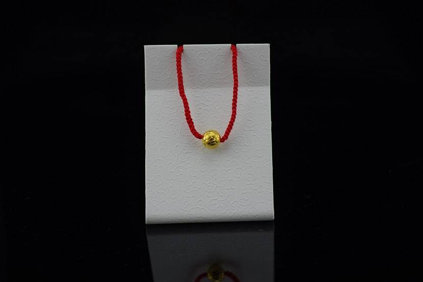 24K Gold Soccer Ball Bracelet with Red Rope World Cup 2014