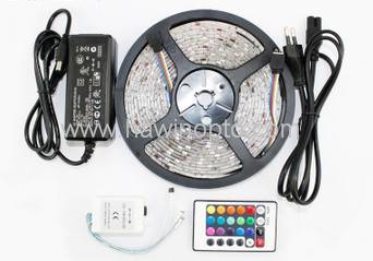 RGB LED Strip 5M 300Led 3528 SMD + 24Key IR Remote Controller Flexible Light Led Tape DC 12V Home De