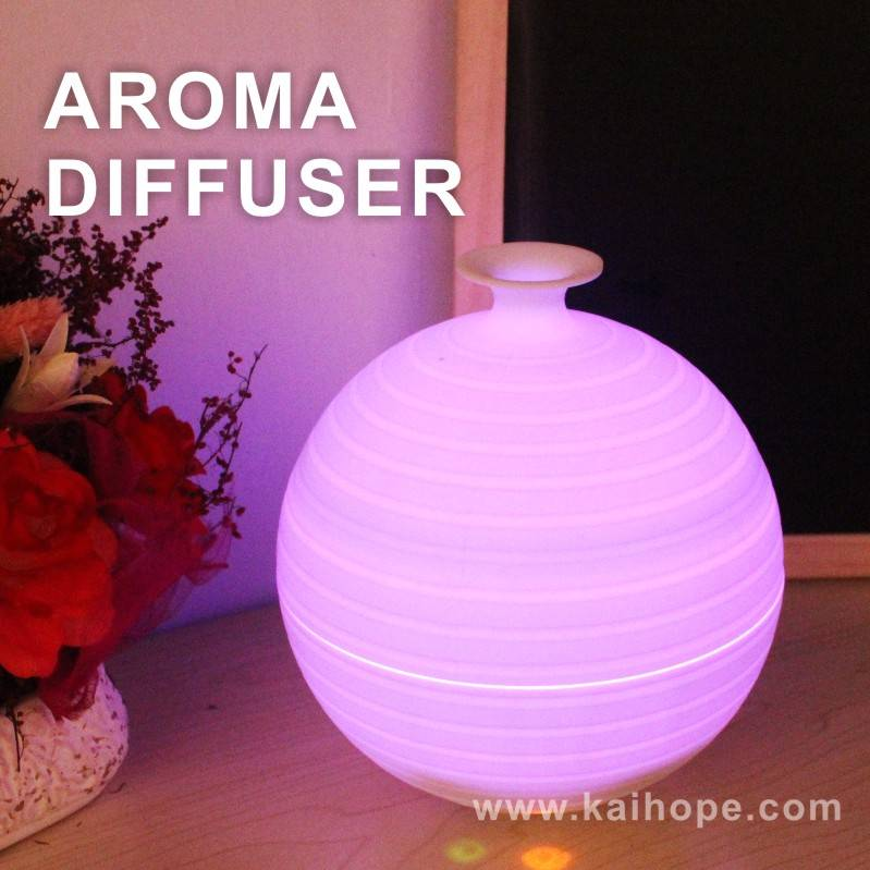 Wholesale Vase New Changing LED Ultrasonic Air Humidifier Purifier Aroma Diffuser