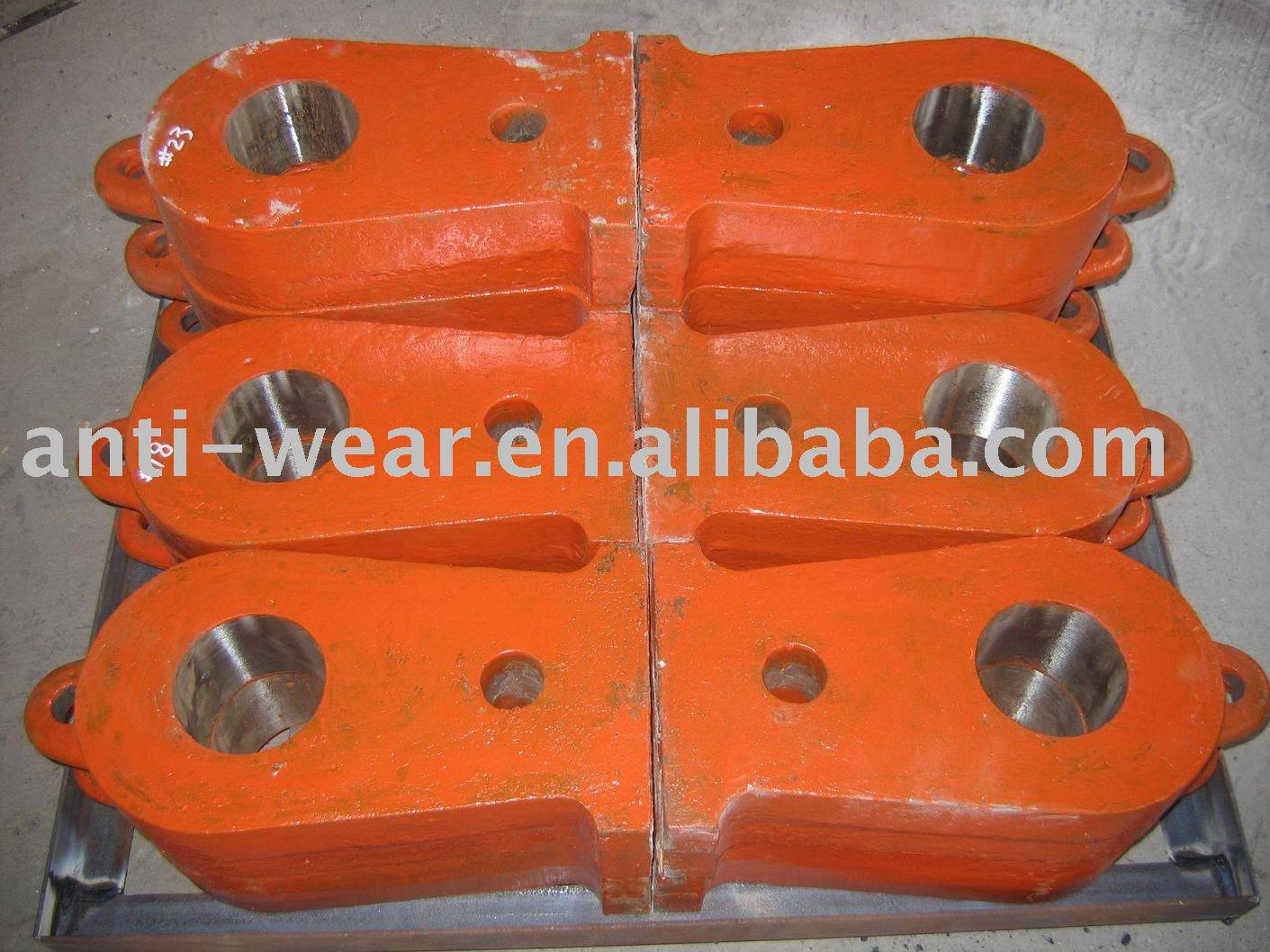 High Mn Steel Crusher Hammer Castings