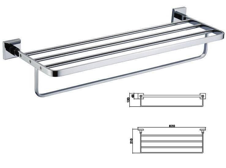 Towel Shelf (brass / stainless steel)