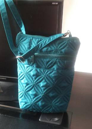 quilted flower crossbody bag