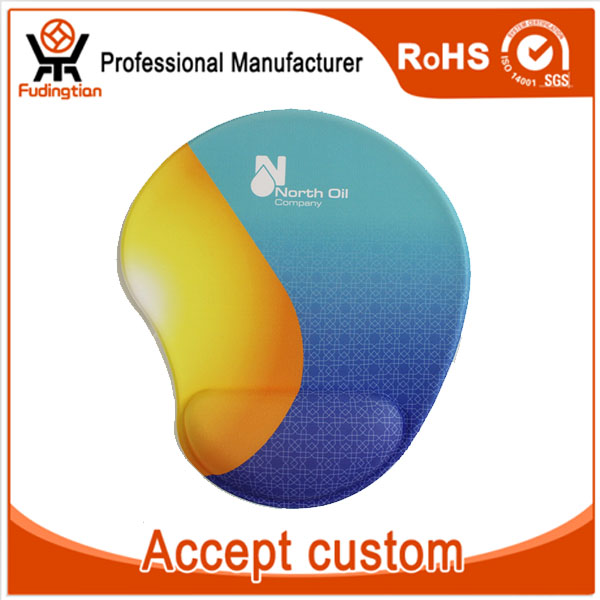 Printing Logo Customized Silica Gel Wrist Rest Mouse Pad
