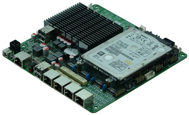 Intel J1900 Based MITX Fanless Firewall Embedded Board for Network Security Application, 4Lan Bypass